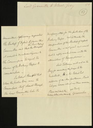 7 Jun 1850. Lord Granville to Colonel Grey