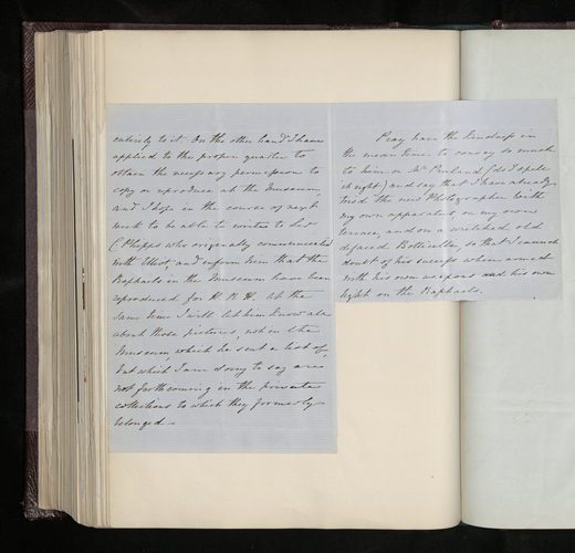 Part of letter from Augustus Craven to George Russell from Naples, stating that Grillet is away and recommending another photographer to carry out the Prince Consort's commission there