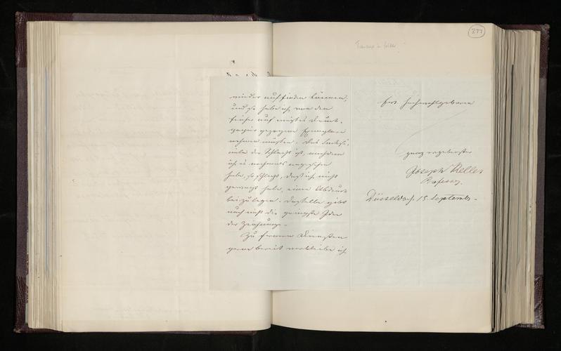 Letter from Professor Joseph Keller to Dr. Ernst Becker