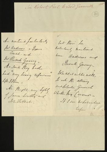 16 May 1850. Sir Robert Peel to Lord Granville