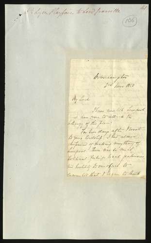 2 Jun 1850. Lyon Playfair to Lord Granville
