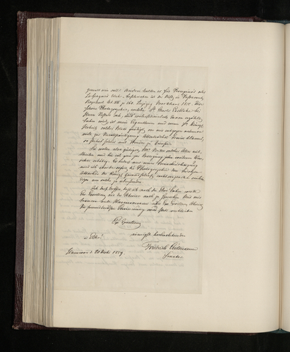 Letter from Senator Culemann to the British Envoy to Hanover attempting to identify a Raphael drawing said to be in Hanover, which the Prince Consort has asked to have photographed
