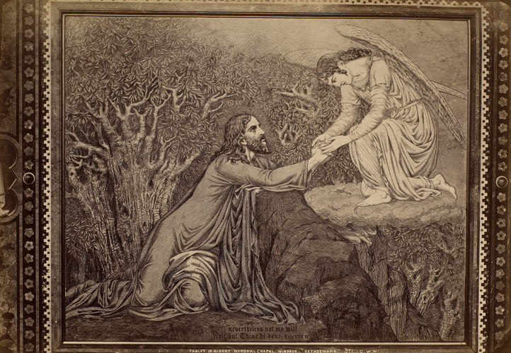 'Gethsemane' tablet from the wall of the Albert Memorial Chapel, Windsor Castle
