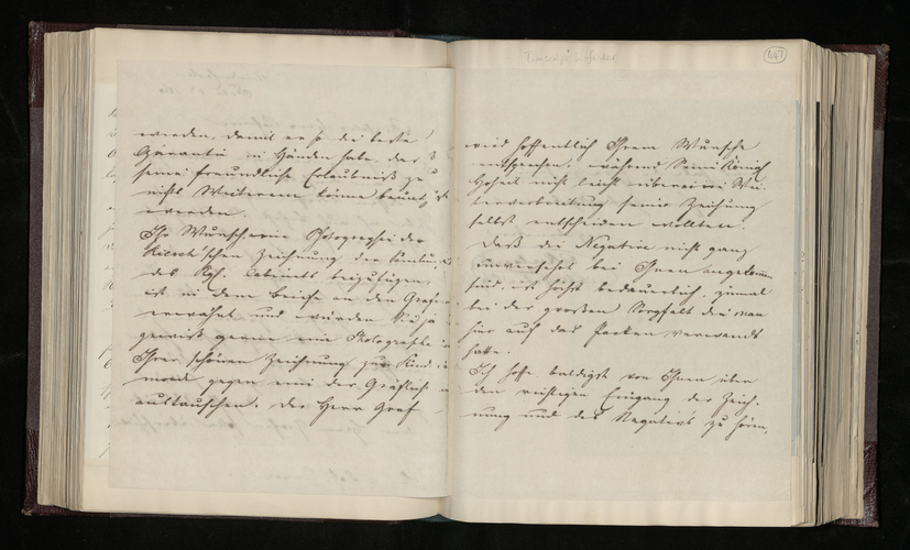 Copy letter from Charles Ruland to Ludwig Gruner concerning the return of Count Riesch's Raphael drawing