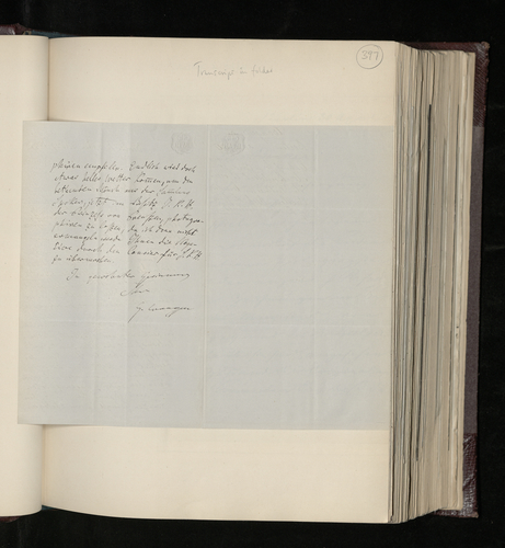 Letter from Gustav Waagen to Dr Ernst Becker reporting that he has discovered a new drawing by Raphael, and promising to have the drawing owned by the Princess of Prussia photographed for the Prince C
