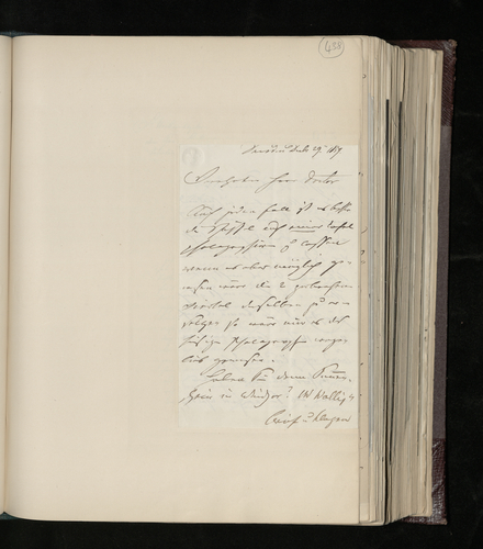 Letter from Ludwig Gruner to Dr. Ernst Becker concerning the (Raphael) drawings he has sent to him to be photographed