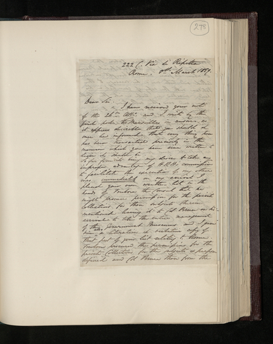Letter from William Lake Price to Dr. Ernst Becker protesting that he has carried out his commission for the Prince punctiliously and hopes to return to England soon with the majority of the photograp