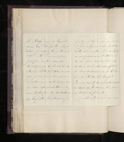 Copy letter from Charles Ruland to Frederic Reiset asking his advice about an engaving after Raphael purchased by the Prince Consort