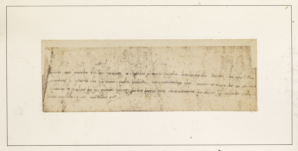 A letter from Raphael to Domenico Alfani
