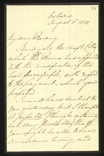 6 Aug 1852. Colonel Phipps to Edgar Bowring