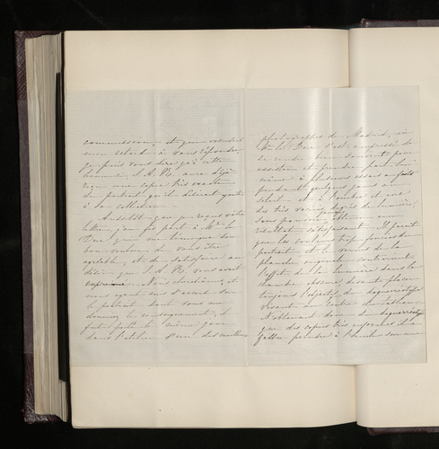 Extract of letter from an unknown writer to Count Tascher de la Pagerie reporting on the photography of a Raphael portrait in the collection of the Duke of Alba in Madrid, for the Prince Consort