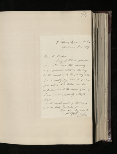 Letter from Sir Charles Eastlake to Dr. Ernst Becker expressing the opinion that D. Lenoir's picture is not by Raphael