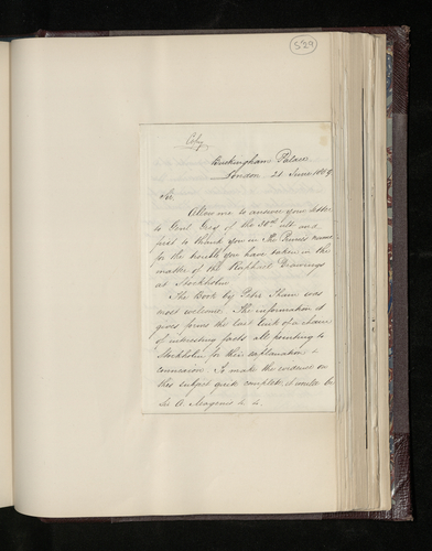 Copy letter from Dr. Ernst Becker to the British Envoy to Sweden responding to the latter's letter concerning the photographing of the Raphael drawings in the Swedish royal collection