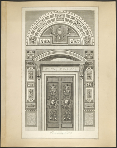 Master: Logge di Rafaele nel Vaticano Item: The door at the south end of the loggia