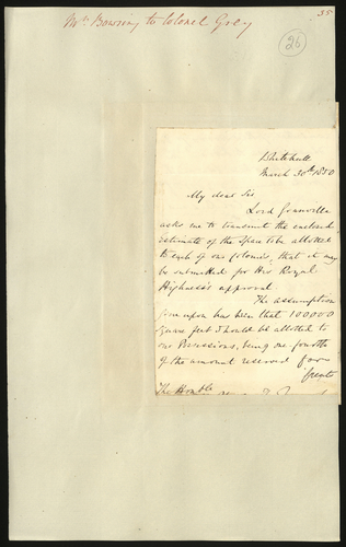 30 Mar 1850. Edgar Bowring to Colonel Grey