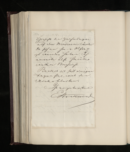 Letter from Dr. Ernst Stockmar to Charles Ruland agreeing to arrange the photography required