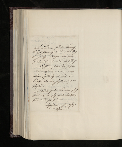 Letter from Ludwig Gruner to Dr. Ernst Becker asking whether the Prince already has photographs of certain works by Raphael, which he can send if required