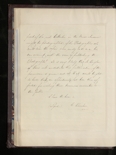 Copy letter from Dr. Ernst Becker to Dr. Frederic Kuhlmann sending photographs of two drawings by Raphael from the collection at Windsor Castle Musee Wicar at Lille
