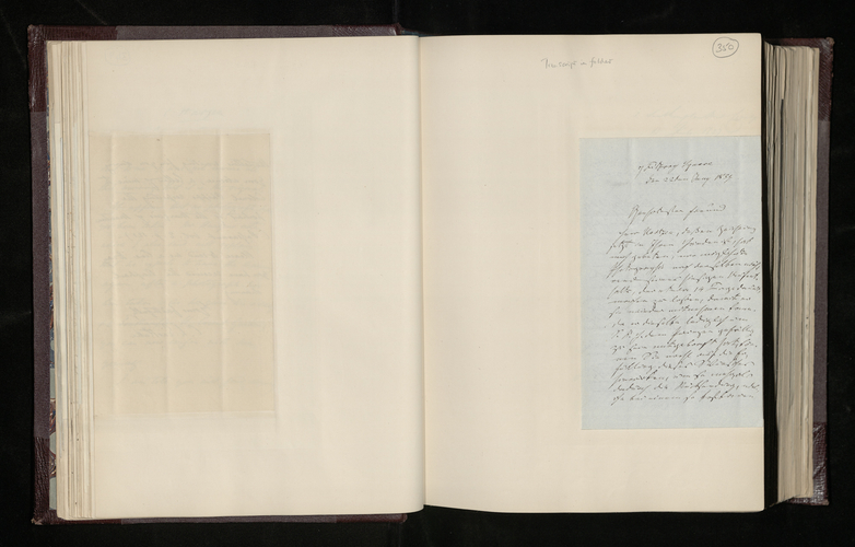 Letter from Dr. Waagen to Dr. Ernst Becker conveying Herr Harzen's request that his Raphael drawing be photographed before his return from London to Hamburg