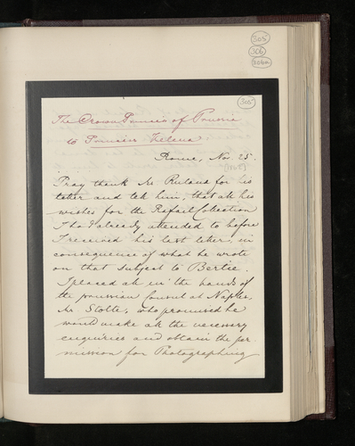 Copy extract of letter from Victoria, Princess Royal, to Princess Helena saying that she has made arrangements for the Raphael works in Naples to be photographed