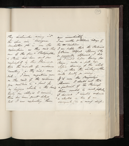 Letter from William Lake Price to Dr. Ernst Becker on the frustration of his work in private collections in Rome, the success of the lithographic copies of his portrait of Prince Alfred, and his offer