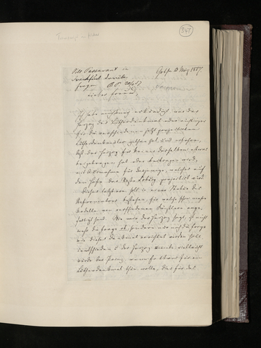 Letter from Dr. Samwer to Dr. Ernest Becker asking whether the Prince Consort would like to contribute to a memorial statue to Luther in Coburg and whether he would be interested in two drawings, poss