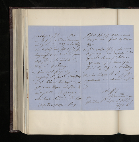 Letter from Ludwig Gruner to Dr. Ernst Becker giving further details of the photographs of works by Raphael which he is offering to send