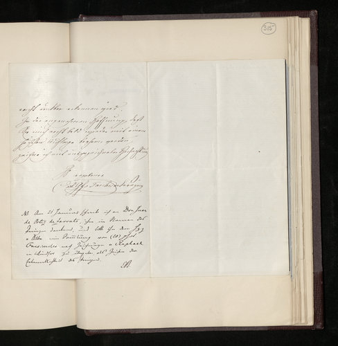 Letter from Count Tascher de la Pagerie to Dr. Ernst Becker thanking him for his letter and giving him the name of Don Juan de Ortez de Zarrate, who arranged for the photographing of the Raphael portr