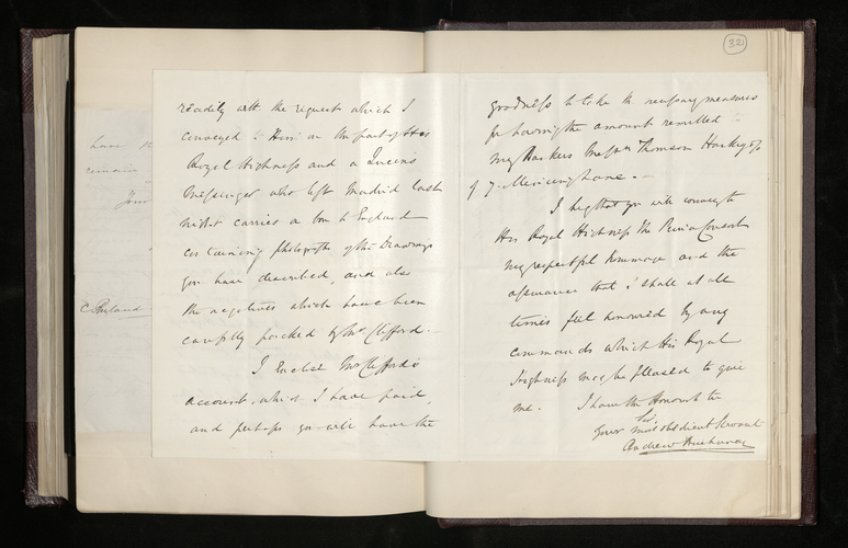 Letter from the British Minister in Madrid to Charles Ruland reporting that he has carried out the Prince's commission to have Sr Madrazo's Raphael drawings photographed and the results are on the w