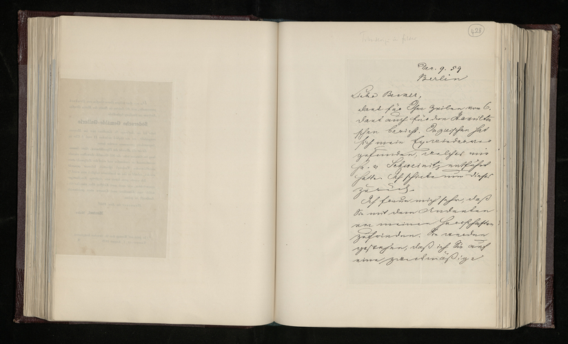 Letter from Ernst Stockmar to Dr. Ernst Becker reporting that the Princess of Prussia's Raphael picture has been photographed, and that he has commissioned a photographer in Coblenz to photograph Bet