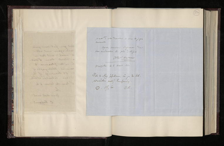 Letter from Albert Moitessier to Charles Ruland sending photographs of Raphael drawings at Montpellier and explaining why he was unable to photograph three other drawings as requested