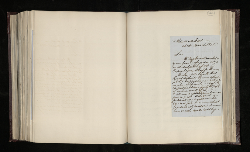 Letter from P. & D. Colnaghi & Co. to Dr. Ernst Becker regarding a picture by Raphael in Copenhagen