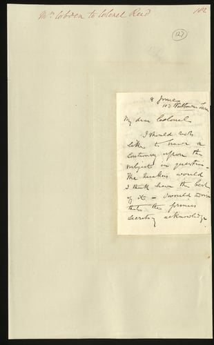 8 Jun 1850. Mr Cobden to Colonel Reid