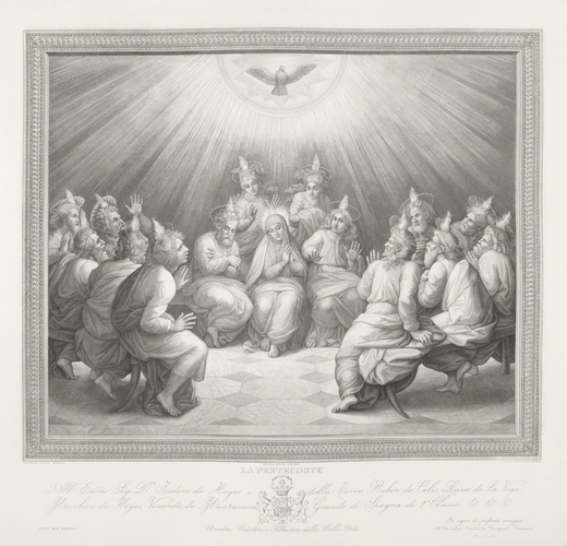 The Descent of the Holy Spirit upon the Apostles and the Virgin Mary (The Pentecost)