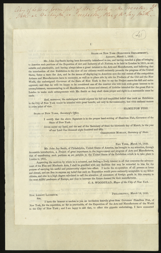 [Mar 1850] New York exhibition