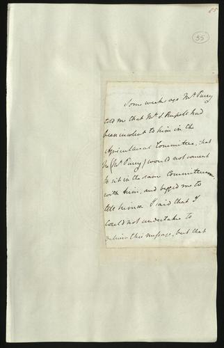 26 Apr 1850. Unsigned letter regarding a complaint