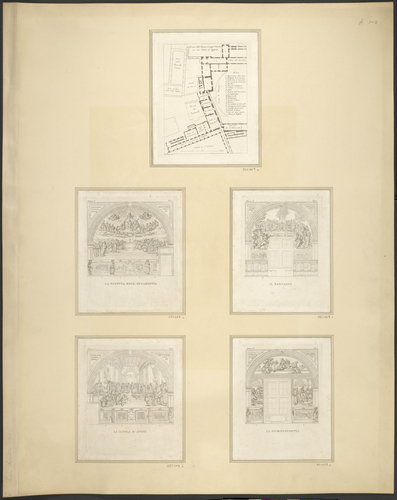Master: Plan of the Vatican Palace and the four walls of the Stanza della Segnatura Item: Plan of the Vatican Palace