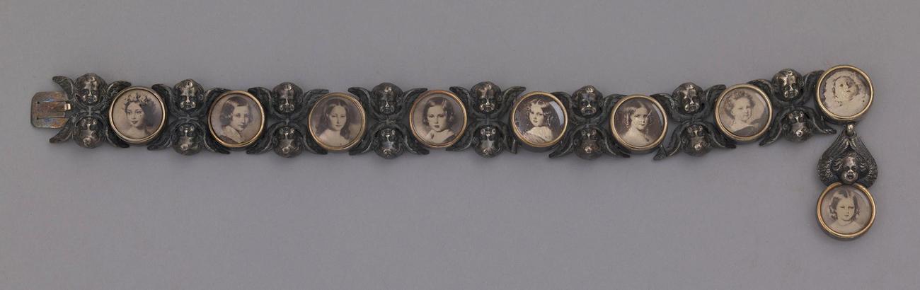 Bracelet with photographs of royal children