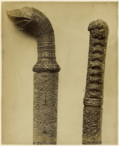 Sword handles and scabbards