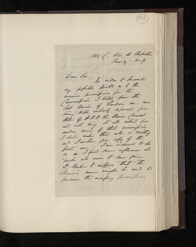 Letter from William Lake Price to Colonel Bruce regarding his other commissions to photograph pictures in Rome
