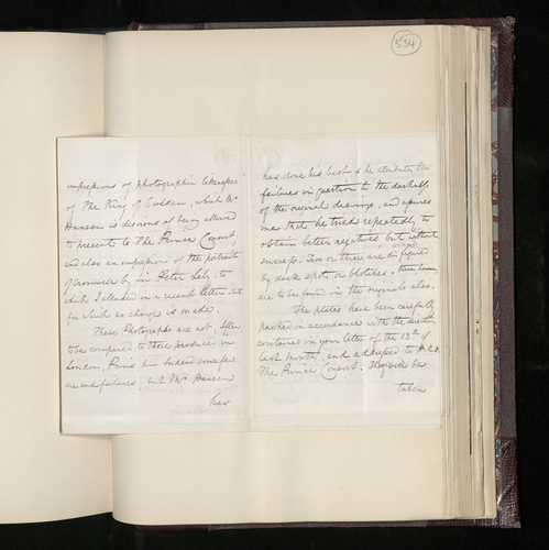 Letter from Hon. Edward Erskine to Dr. Ernst Becker announcing the completion of the photography of the Raphael and other works in Stockholm and the imminent dispatch of the prints and plates to Engla