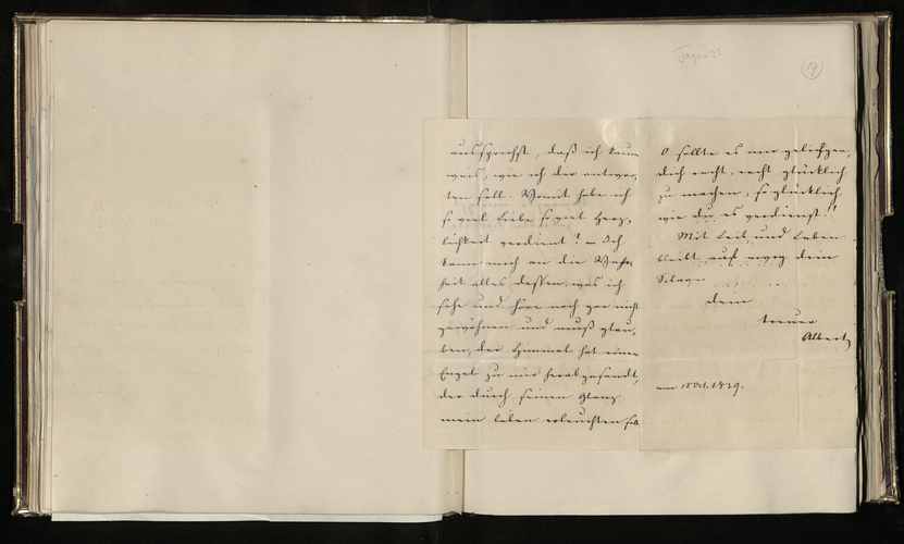 Note from Prince Albert to Queen Victoria on the day of their engagement