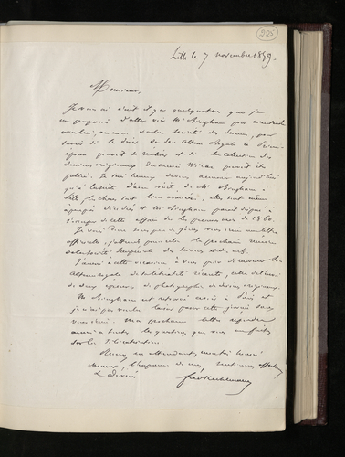 Letter from the President of the Society of Sciences and Arts at Lille to Dr. Ernst Becker informing him that arrangements have been made for the drawings in the Musee Wicar to be photographed and pub