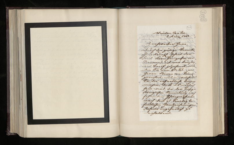 Copy letter from Charles Ruland to unnamed addressee regarding the photographing of Raphael drawings in Venice not yet in the Royal Collection in Windsor