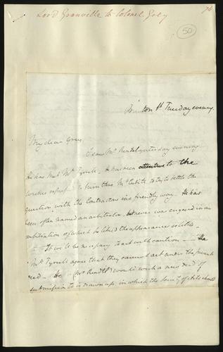[Apr 1850] Lord Granville to Colonel Grey
