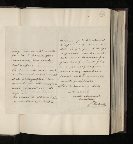 Copy letter from Charles Ruland to Dr. Kuhlmann in Lille, asking whether the photographer Mr Bingham has begun photographing the Wicar collection of drawings