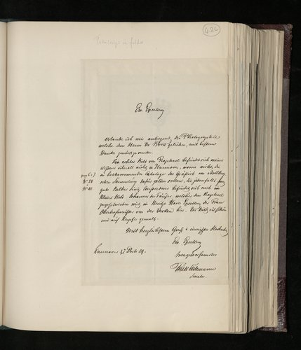 Letter from Friedrich Culemann to the British Envoy to Hanover denying knowledge of a work by Raphael in Hanover and enclosing a catalogue of the Soder (Count Brabeck) collection, which includes works