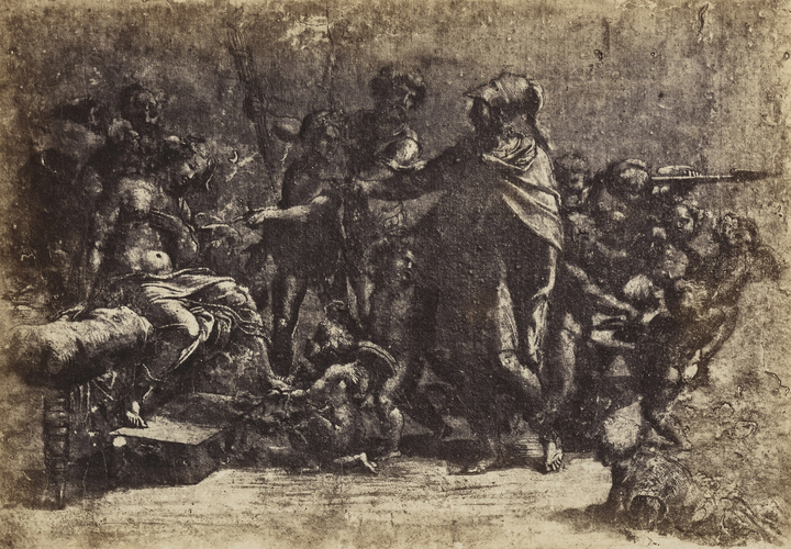 A study for the Marriage of Alexander and Roxana