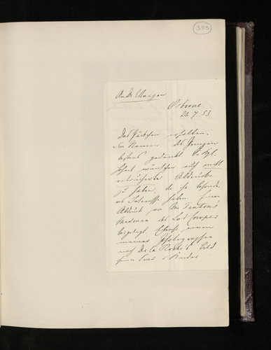 Notes of Dr Ernst Becker's reply to Gustav Waagen's letter of 16 July thanking him for the photographs from Berlin and asking for more