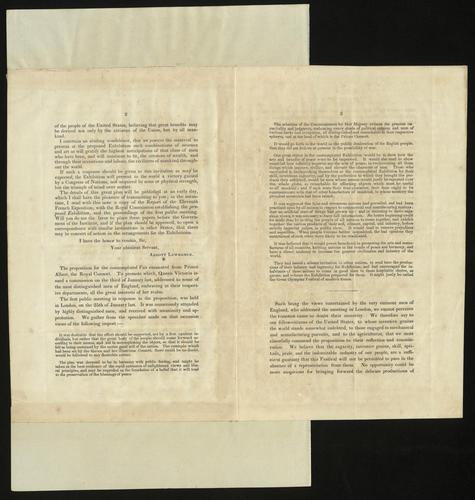 [Apr 1850] Circular relating to proceedings at the American Institute